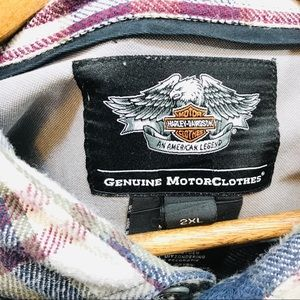 Harley Davidson flannel 2X - HD Wings on the back